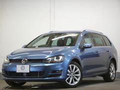 VW ゴルフヴァリアントTSIハイライン レザーP 革 スマートキー ナビ 2年保証