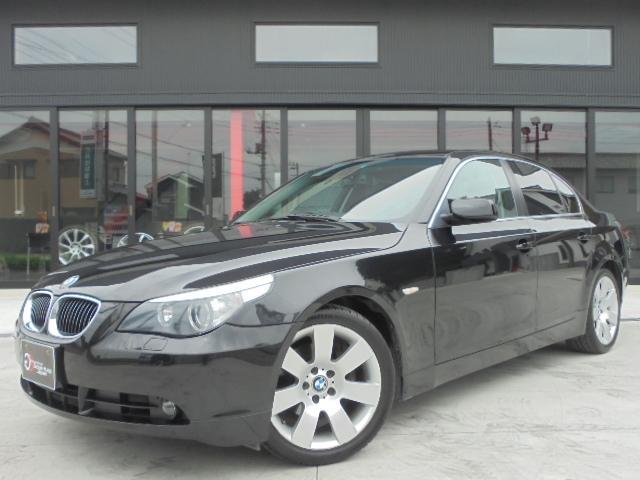 BMW 525iハイラインPKG 黒革 社外HDDナビ 純正18AW