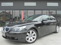 BMW525iハイラインPKG 黒革 社外HDDナビ 純正18AW