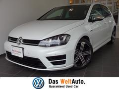 VW ゴルフRベースグレード 6MT 純ナビ 黒革 認定中古車