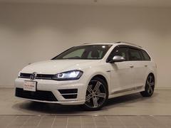 VW ゴルフRヴァリアントベースグレード 新車保証付 純ナビ 黒革 追従 認定中古車