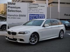 BMW523iツーリング MスポーツPKG黒レザ−シートヒ−ター