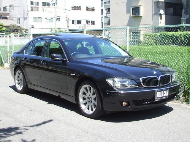 BMW 740i ワンオーナー禁煙車 黒革 サンルーフ 純正ナビ