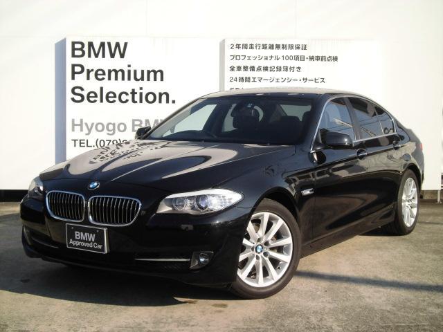 BMW 528i ワンオナ黒レザーiDriveナビ18インチアルミ