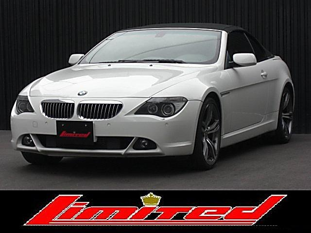BMW 645カブリオレ電動オープン 左H 赤革 20アルミ レ-ダ