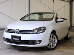 VW ゴルフカブリオレベースグレード 純正SDナビ フルセグTV 本革シート