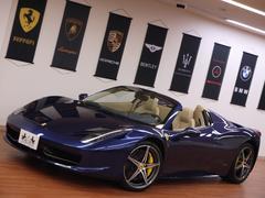 フェラーリ 458スパイダーD車 希少カラー ダイヤモンド20incAW 社外HDDナビ