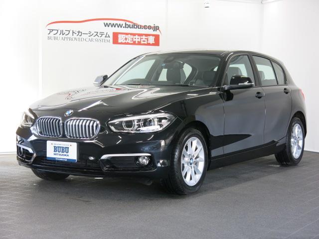 BMW 1シリーズ 118iスタイル 1オナ 白半革S 純正ナビ ...