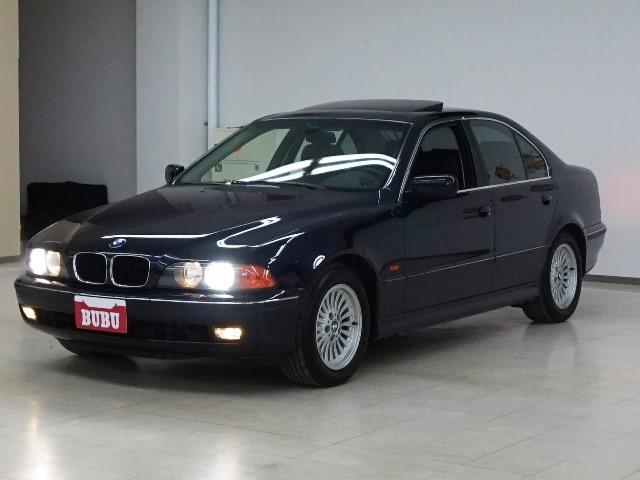 BMW 5シリーズ 528i 黒革PS サンルーフ 純正ナビ ET...