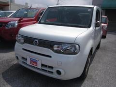 沖縄の中古車 日産 キューブ 車両価格 98万円 リ済別 平成26年 1.4万K ブリリアントホワイトP3P