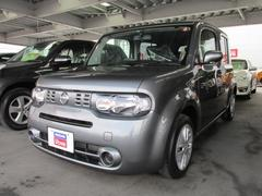 沖縄の中古車 日産 キューブ 車両価格 106万円 リ済別 平成26年 2.6万K ダークメタルグレーM