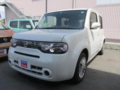 沖縄の中古車 日産 キューブ 車両価格 99万円 リ済別 平成27年 2.5万K ブリリアントホワイトP3P