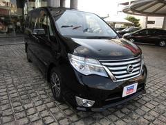 沖縄の中古車 日産 セレナ 車両価格 213万円 リ済別 平成27年 4.0万K ダイヤモンドブラックP