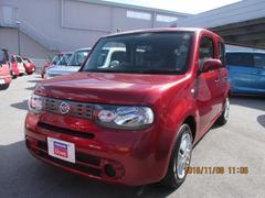 沖縄の中古車 日産 キューブ 車両価格 97万円 リ済別 平成26年 5.2万K ラディアントレッドPM