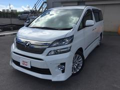 沖縄の中古車 トヨタ ヴェルファイア 車両価格 299.8万円 リ済別 平成25年 3.0万K ホワイトパール