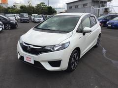 沖縄の中古車 ホンダ フィットハイブリッド 車両価格 161.8万円 リ済別 平成28年 0.8万K ホワイトパール