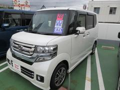 沖縄の中古車 ホンダ N BOXカスタム 車両価格 155.8万円 リ済別 平成28年 1.1万K パール
