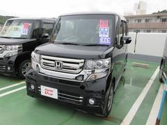 沖縄の中古車 ホンダ N BOXカスタム 車両価格 155.8万円 リ済別 平成28年 1.0万K ブラック
