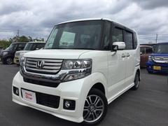 沖縄の中古車 ホンダ N BOXカスタム 車両価格 129.8万円 リ済別 平成26年 1.8万K ホワイトパール