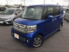 沖縄の中古車 ホンダ N BOXカスタム 車両価格 156.8万円 リ済別 平成28年 0.7万K ブルーメタリック