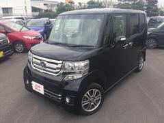 沖縄の中古車 ホンダ N BOXカスタム 車両価格 154.8万円 リ済別 平成29年 0.7万K ブラックパール