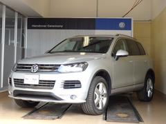 VW トゥアレグV6 ブラックPレザー 純正HDDナビTV 純正AW