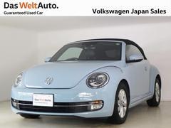 VW ザ・ビートル・カブリオレ黒レザーシート 黒幌 ナビ 禁煙 ワンオーナー 認定中古車
