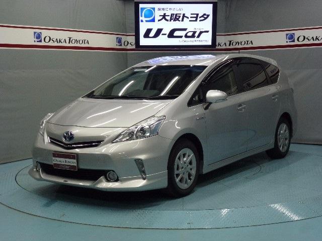 トヨタ プリウスα S HDDナビ 後席モニター LED (車検整備付)