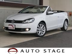 VW ゴルフカブリオレベースグレード 1オーナー 禁煙 新品ナビ フルセグ 白革