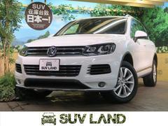 VW トゥアレグV6 BMT アップグレードPKG 純正HDDナビ 黒革