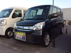 沖縄の中古車 スズキ スペーシア 車両価格 158万円 リ済別 平成28年 0.6万K ブルーイッシュブラックパール3