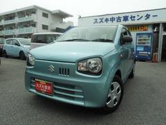 沖縄の中古車 スズキ アルト 車両価格 74万円 リ済別 平成29年 0.3万K フィズブルーパールメタリック
