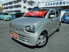 沖縄の中古車 スズキ アルト 車両価格 86万円 リ済別 平成28年 0.8万K シルキーシルバーメタリック