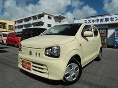 沖縄の中古車 スズキ アルト 車両価格 86万円 リ済別 平成28年 1.0万K シフォンアイボリーメタリック