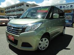 沖縄の中古車 スズキ ソリオ 車両価格 123万円 リ済別 平成28年 0.6万K クリアライムメタリック
