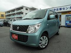 沖縄の中古車 スズキ ワゴンR 車両価格 93万円 リ済別 平成28年 0.8万K フィズブルーパールメタリック