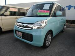 沖縄の中古車 スズキ スペーシア 車両価格 125万円 リ済別 平成28年 0.7万K フレンチミントパールメタリック