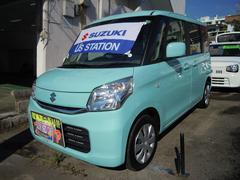 沖縄の中古車 スズキ スペーシア 車両価格 137.1万円 リ済別 平成28年 1.0万K フレンチミントパールメタリック