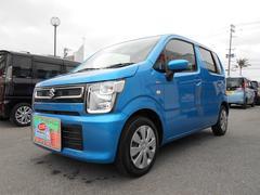 沖縄の中古車 スズキ ワゴンR 車両価格 103万円 リ済別 平成29年 1.5万K ブリスクブルーメタリック