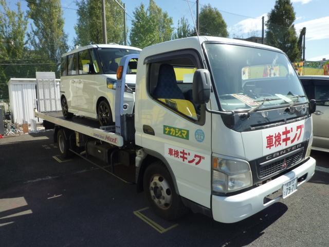 積載車完備で引取りから納車まで対応可能です