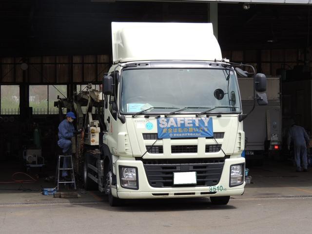 大型トラックの整備設備を充実