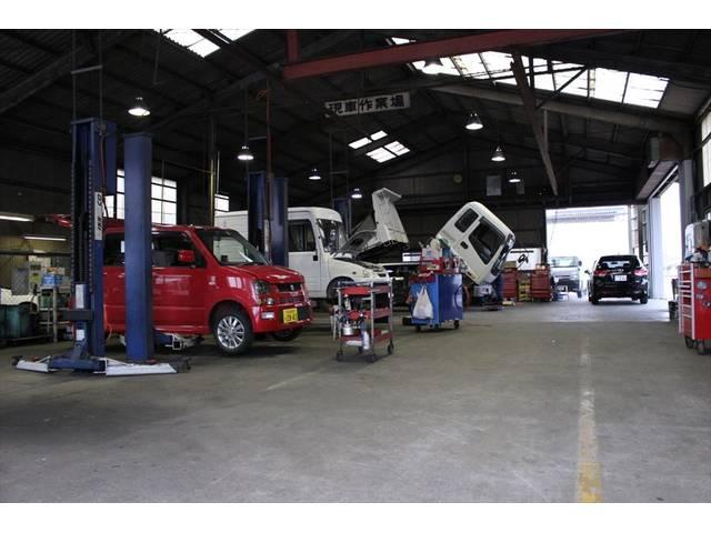 中部運輸局長指定工場完備!法律に基づき中部運輸局長の認証を受けた安心な高技術を持持った工場です。