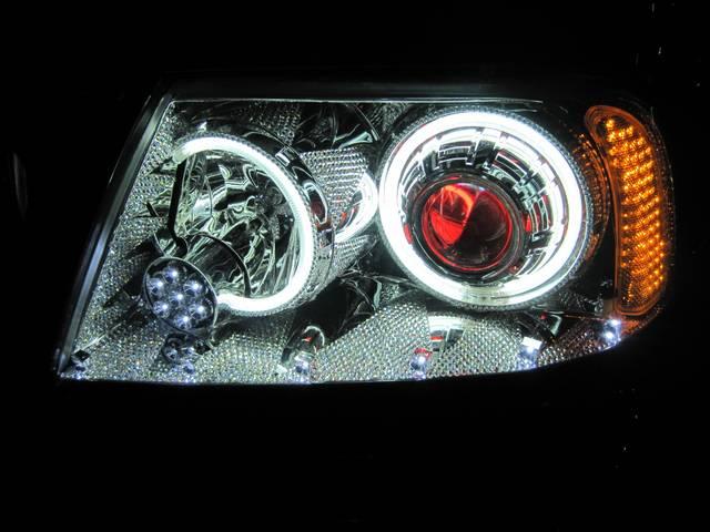 イカリング・レッドアイ・バルカン風LED・プロジェクター・スワロ加工!自社製作致します!