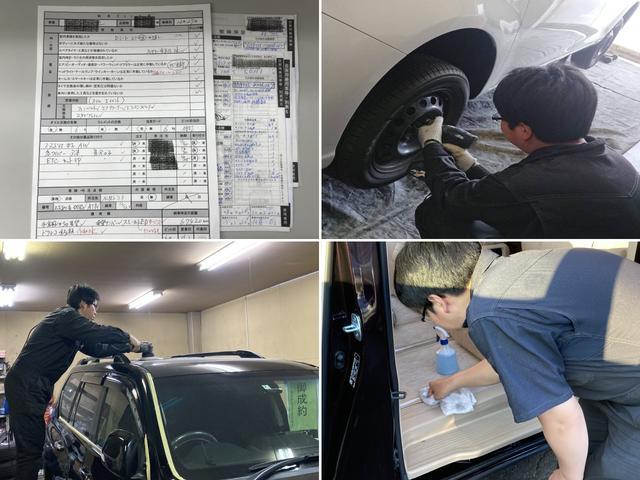 タイヤ交換オイル交換、一般整備、車検、部品取り付けなど、購入後もお車をフォロー致します。