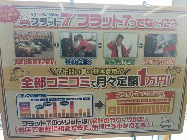フラット7!新車の軽自動車が月々コミコミで1万円から!