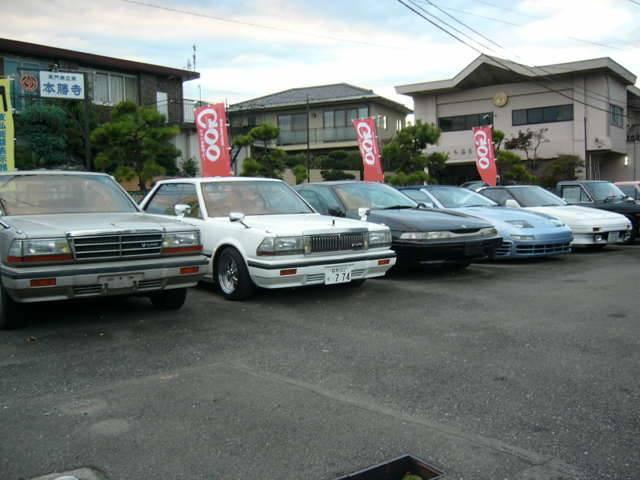 昭和の名車や憧れの旧車にも力を入れております。こだわりの車達です。複数画像で状態を確かめて下さい。
