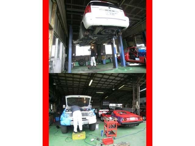 当社整備工場では熟練の整備により、法定24ヵ月点検整備を行い納車させて頂いております。