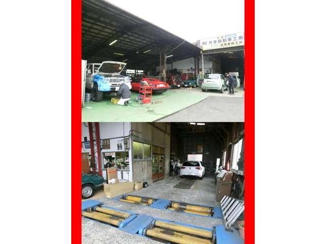 創業43年目の九州運輸局認証工場です。輸入車はもちろんですが国産車の車検整備も承ります。