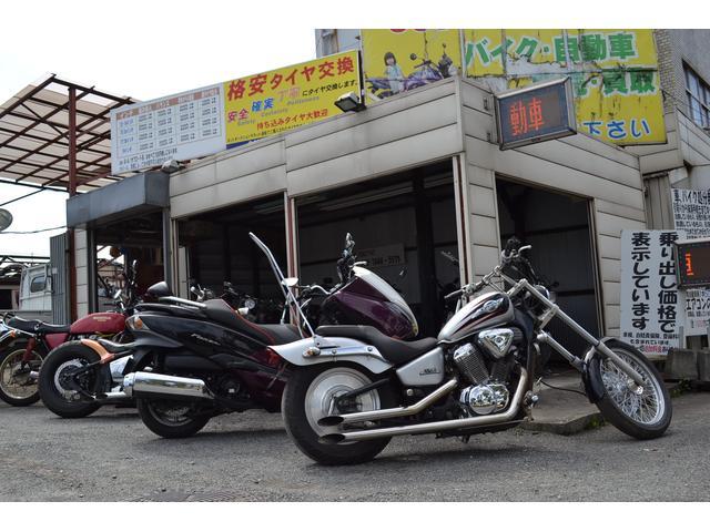 バイクはカスタムしたものを中心に販売しています!