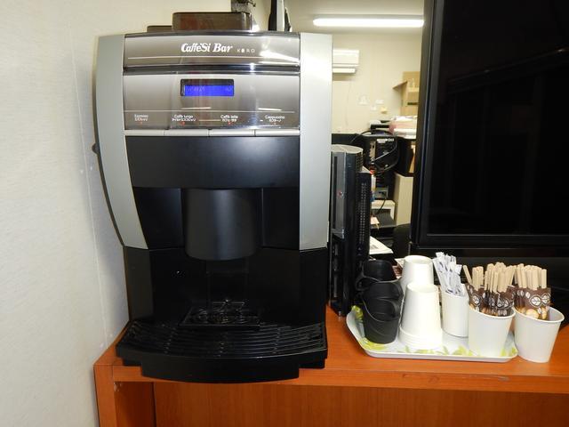 一杯引きのこだわりコーヒーマシーン!おいしいコーヒーを飲みながら、お車のお話をしましょう!